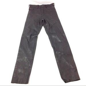 Men's Leather Pant Straight Size 30 Black Moto